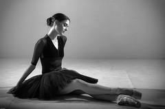 ballerina in black (dannyjackie) Tags: ballet woman black studio ballerina sitting graceful tutu ballerinaperth
