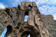 Corfe Castle (gillybooze) Tags: sky building architecture clouds outside ruins historic corfecastle allrightsreserved