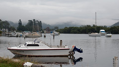 Misty morning at the waterfront (Merrillie) Tags: nature water weather misty outdoors photography boat nikon scenery waterfront outdoor australia nsw newsouthwales centralcoast raining waterscape woywoy d5500 nswcentralcoast centralcoastnsw