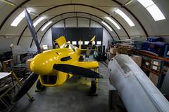 Danmarks Flymuseum, Stauning - restoration hangar, Fairey Firefly (Sam Wise) Tags: museum denmark fairey restoration danmark firefly stauning aviationaircraft