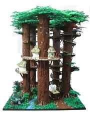 Ewokdorf 04 (KW_Vauban) Tags: starwars lego endor ewokvillage episodevi thereturnofthejedi