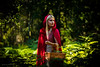 Lisy.W. By Corsu. (By Corsu) Tags: 0027 lisy by corsu canon eos 6d 100400 l femme woman women teen teenage girl fille red riding hood chaperon rouge foret forest cape blonde hair arbre tree panier visage face portrait tête head lightroom preset flickr shooting modèle model