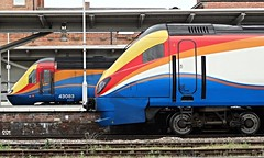 EMT Meridian and HST in Derby (jimscott2) Tags: trains east emt derby meridian midlands