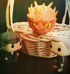 Who are you? (Black Rose Bride) Tags: toys dragon bbc sherlock thehobbit smaug funkopop