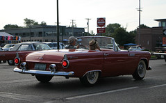 1955 Ford Thunderbird (RudeDude2140a) Tags: red classic ford 1955 sports car convertible thunderbird roadster