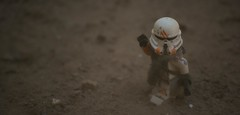 Lost (Eflow Guy) Tags: starwars force clone outdoors sand dust clonetrooper