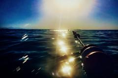 The opposite of no (Melissa Maples) Tags: antalya turkey trkiye asia  apple iphone iphone6 cameraphone mediterranean sea water reflection dawn sunrise sunflare lensflare flare buoy float rope blue summer
