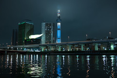 DSC01709 (Zengame) Tags: cloud tower japan architecture night zeiss tokyo cloudy sony illumination landmark illuminated cc creativecommons   rx iki       skytree rx1 komagatabashi   tokyoskytree  rx1r rx1rm2 rx1rmark2