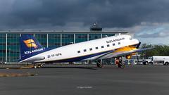 C47 TF-NPK 20160713 D166091 (icelander) Tags: iceland aircraft aviation airplane plane aeroplane island sland keflavik reykjavikkef c47a douglas skyraini skytrain dakota