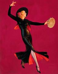 Tambourine Dancer by Edward Eggleston, 1937 (Tom Simpson) Tags: tambourinedancer edwardeggleston 1937 pinup pinupart illustration 1930s woman painting vintage dancer