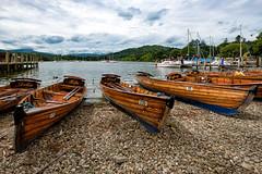 Rowing Boats - Ambleside (Mister Oy) Tags: davegreen oyphotos oyphotos boats rowing ambleside lakedistrict cumbria fujixpro2 fuji1024mm lake windermere