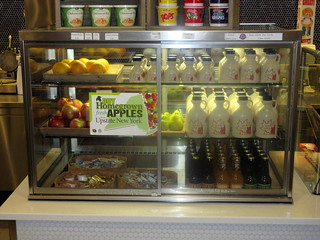 Fresh Fruit, Syrup, and Juice in Cornell Dairy Bar in Stocking Hall