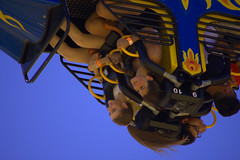 Inverted (swong95765) Tags: force ride carnival invert girls kids upsidedown facial expressions fun scare thrill
