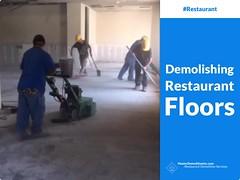 Demolishing Restaurant Floors (video) (MasterDemolitionInc) Tags: restaurant floors demolition contractor company la los angeles sfv sanfernandovalley masterdemolitioninc