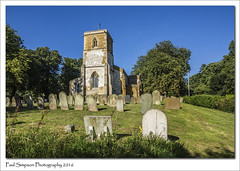 St Andrews, Utterby, Lincolnshire (Paul Simpson Photography) Tags: utterby lincolnshire eastlindsey sonya77 summertime august2016 paulsimpsonphotography photoof photosof imageof imagesof tower trees bluesky graves standrews rural lincolnshirechurches