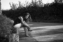 Ed-DSC_9519 (ArnoC.photo) Tags: femme woman girl nature portrait beauty france forest fort nikon d7100 50mm f18 personnes extrieur outdoor paysage beautiful image photo photographie photography pics picture black white bw noir et blanc monochrome