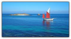 Le Popoff aux Glnan (Phoebus58) Tags: bateau boat popoff glenan voilier sailingboat ile island mer sea ocean atlantic atlantique bleu voile water olympus