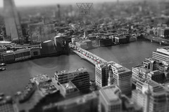 BRIDGE (lonewolf_studio) Tags: tiltshift london londres bus bridge londonbuses city citiescapes skyline blackandwhite blanconegro fujifilm