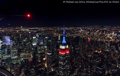 Looking Back (DSC09826) (Michael.Lee.Pics.NYC) Tags: newyork aerial helicopter flynyon esb empirestatebuilding tail night cityscape architecture midtown queens 2016 sony a7rm2 fe2470mmgm