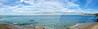 Totland Panorama 1 (tame_alien) Tags: uk unitedkingdom england isleofwight totlandbay panorama sea solent water landscape hurstcastle fortalbert