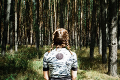 (Marco Antonecchia) Tags: contax contaxt2 film analog cyclingjersey hairbraids wood forest girl fujifilm streetphotography filmisnotdead filmphotography 35mm bosco pescarafixed germany