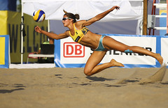 The Floating Dig (Danny VB) Tags: sports action photo photography flying volleyball beachvolleyball germany canon 6d ef70200mmf28lisiiusm toronto ontario canada fivb chantallaboureur fitness girl woman athletic