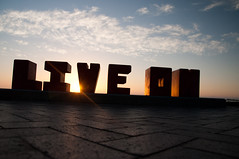 LIVE ON (_Maganna) Tags: cape town south africa outdoors outside sunset nikon live word beach seaside light backlight contour silhouette sky clouds pavement