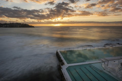 Crepuscular (Crouchy69) Tags: sunrise dawn landscape seascape ocean sea water coast clouds sky rays bondi beach icebergs pool sydney australia