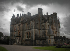Haunted House (The Moon & Back) Tags: haunted house mansion landscape clouds dark sky light storm halloween castle ireland structure stone brick