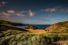 A moonlit Murder Hole. (Mr Bultitude) Tags: tory island murder hole bay cove moon light moonlit donegal ireland coastal wild atlantic way night time melmore head north lighthouse stars clouds nighttime secluded