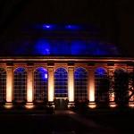 funky blue house