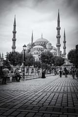 Turkey_20140918116 as Smart Object-1 (ali98ics) Tags: blue turkey landscape blackwhite istanbul mosque cami sultanahmed