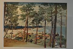 """""""Le Village  mare basse"""", 1913, exposition Jean-Paul Alaux (1876-1955), Htel """"Ville d'Hiver"""", Arcachon, pays de Buch, Gironde, Aquitaine,"""