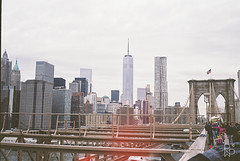 Brooklyn Bridge Skyline (Rob Walker Photography) Tags: street new york trip portrait film architecture landscape island photography manhattan olympus 200 vista coney agfa 35 nathans