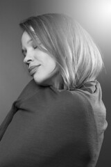 (Rebecca Skye Watson) Tags: light portrait blackandwhite bw hope grey eyes soft closed dreamy wish dreamlike