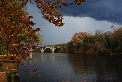 Rappahanock Storm (photo_secessionist) Tags: bridge storm colour weather digital river virginia pentax fredericksburg km rappahanock pentaxdaf35561855mmallens