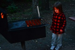 Watching the Bonfire (Vegan Butterfly) Tags: camping camp vacation cute girl outside outdoors kid vegan child adorable bonfire camper homeschool homeschooling