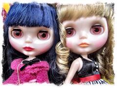 Blythe Curly Blue Babe - pink eyes (Tom Valente) Tags: blue babe curly blythe
