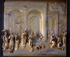 Ghiberti, Gates of Paradise, Jacob and Esau panel