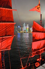 Tourist Junk moored off of avenue of stars (the.bryce) Tags: hongkong junk hongkongbay