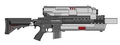 [WIP] 'Eavy Raiful (XerNac - The Owlman) Tags: rifle workinprogress wip 06 futuristic pmg pimpmygun pmg06