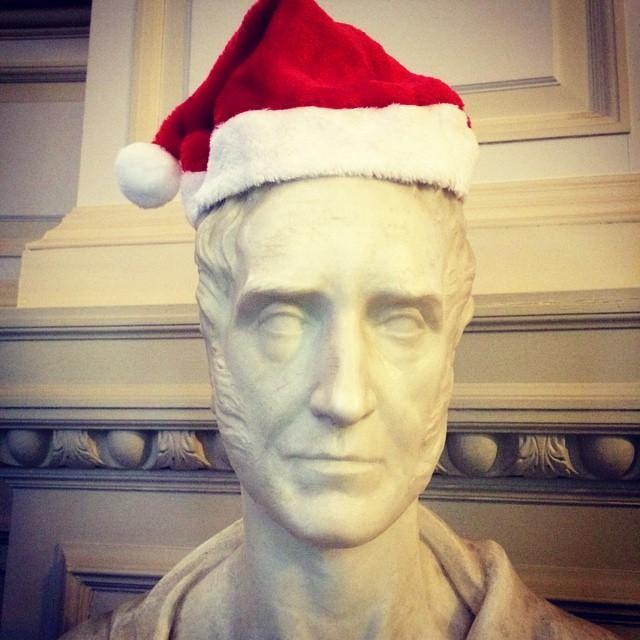 Sir John Maxwell feeling festive #PollokHouse #Glasgow