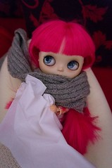 70/365 and Blythe A Day 3 December 2014 - I've caught a cold