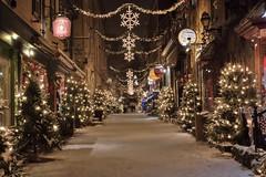 Petit Champlain - Qubec (Luckyquebec) Tags: christmas winter light snow night quebec lumire hiver noel qubec champlain neige nuit petit