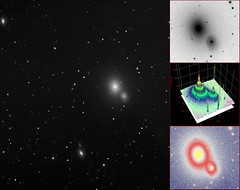 Arp Peculiar Object Number 116 - Elliptical Galaxy Close To And Perturbing Spiral Galaxy (mfoylan) Tags: irishastronomy