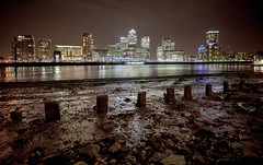 A night on the beach (Harry Ball) Tags: london beach night photoshop docklands canarywharf riverthames rotherhithe hdr canonphotography canonef1740mmf4l canon5dmarkii oloneohdr
