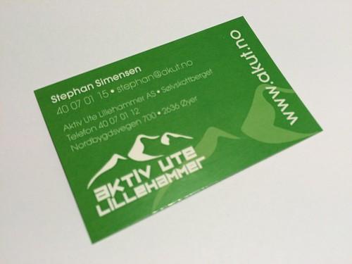 Visittkort for Aktiv Ute på Lillehammer