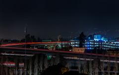 maze views (pbo31) Tags: california winter black color night dark oakland nikon highway view traffic over january eastbay piedmont alamedacounty d800 580 2015 lightstream macarthurmaze