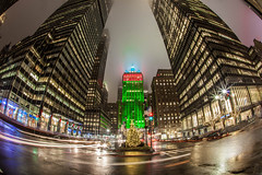New York City Christmas Eve Helmsley Building