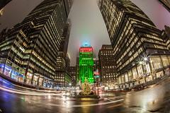 New York City Christmas Eve Helmsley Building